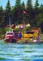 Boat and Plane at Pender Harbour (thumbnail)