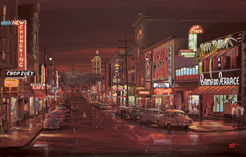 Chinatown 1960, East Pender St. (large view)