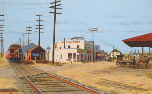 Crossroads at Langley Prairie - 1928 (large view)