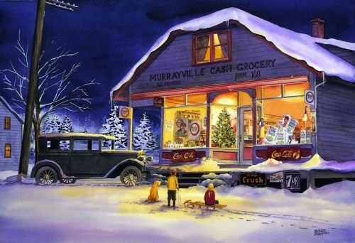 Murrayville Cash Grocery - Christmas Eve (large view)