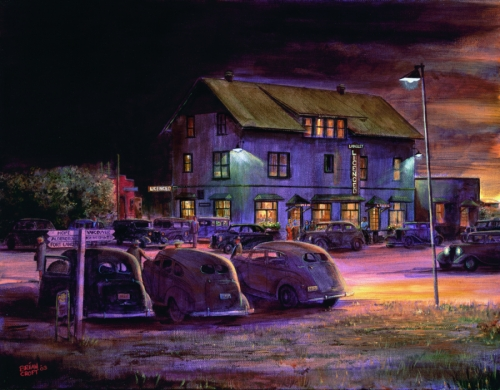 Saturday Night at the Langley Hotel (large view)