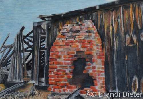 Dilapidated Fireplace