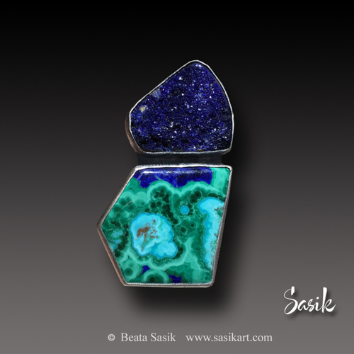 AZURITE ABSTRACT RING