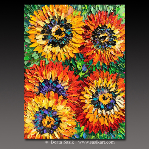 RED AND YELLOW SUNFLOWERS
