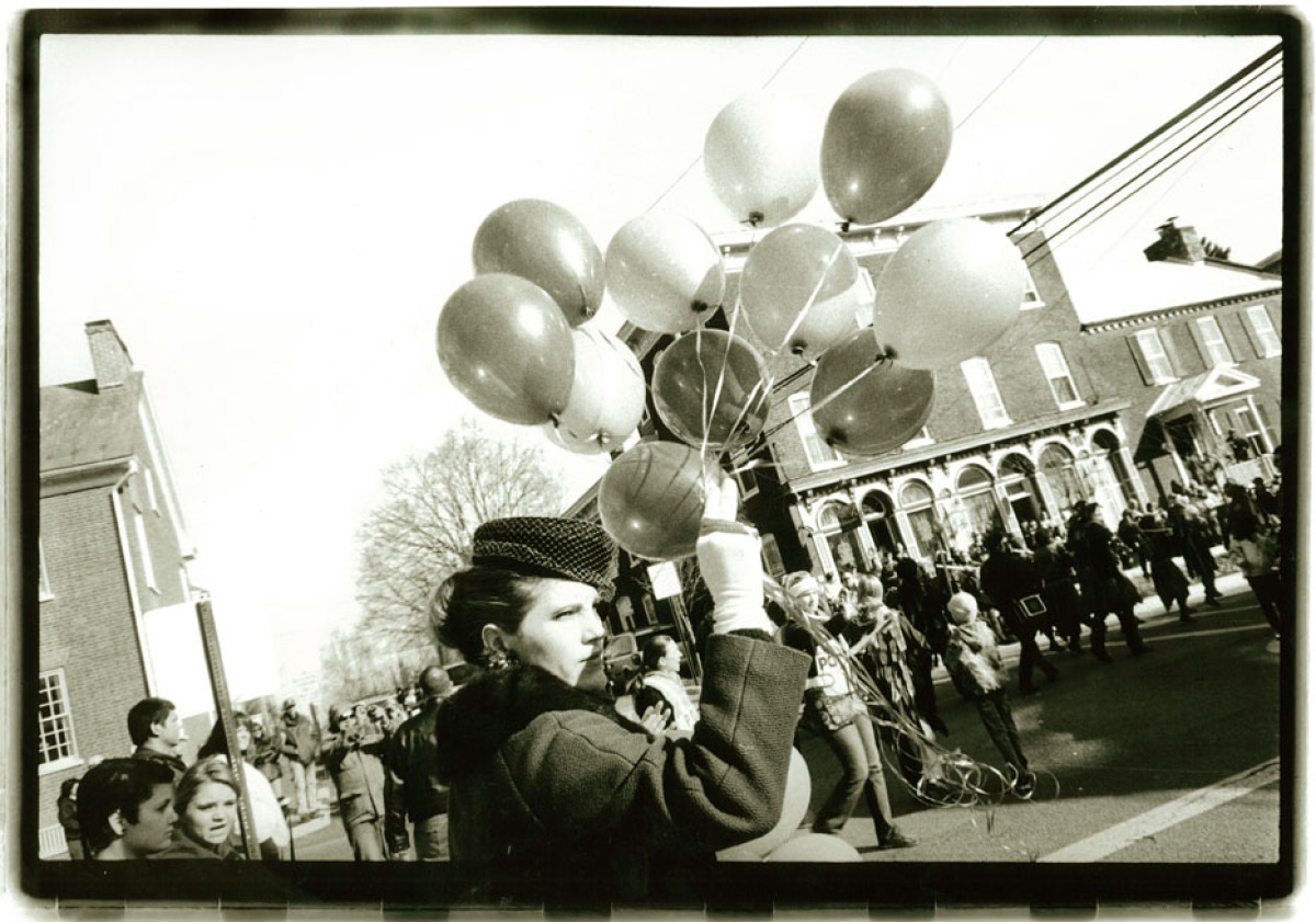 Photography taken in Shepherdstown, West Virginia, during 150th Celebration Christmas Parade,  Silver Print  (large view)