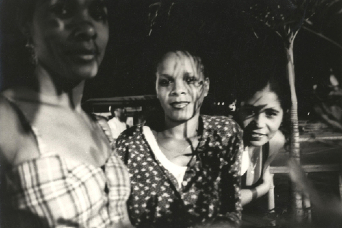 Three  Young Woman On The Street At  Night, Havana, Cuba 2001 (large view)