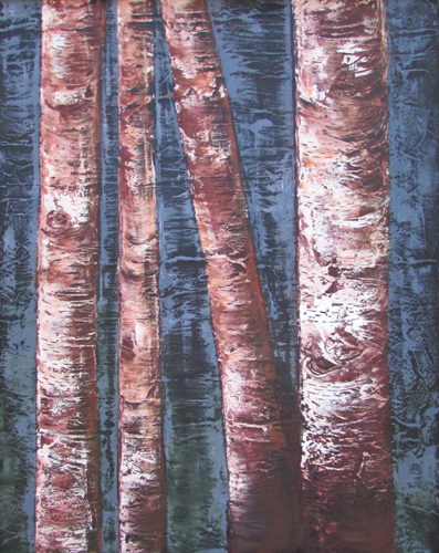 Four Birch Trunks