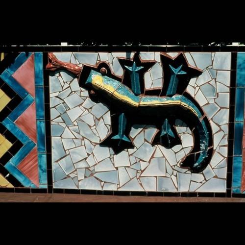 Multicultural Garden Wall Mural lizard