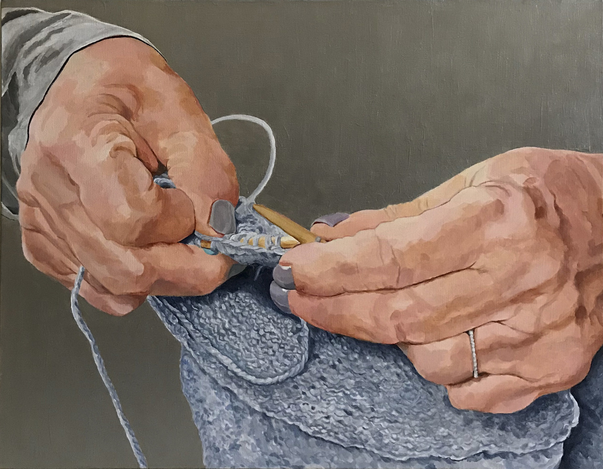 Knitter's Hands (large view)