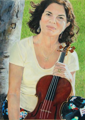 Portrait of Renita With Viola by Betzi Stein