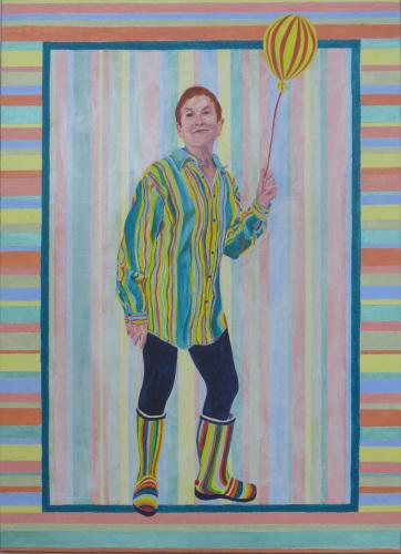 Self Portrait With Stripes