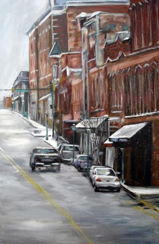 Franklin Street in Snow