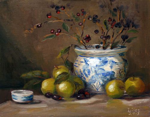 Green Apples and Jar