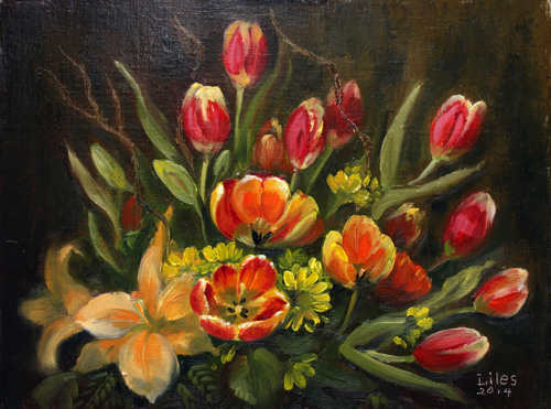 Reception Flowers - Spring Tulips