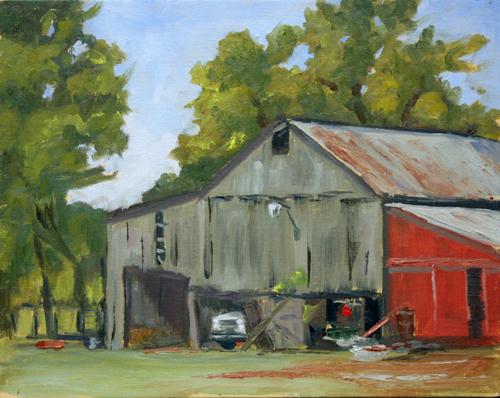 Old Barn in an Apple Orchard near Adams, TN
