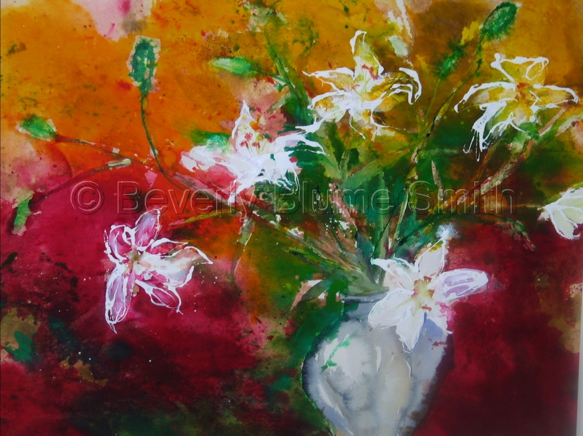Casa Blanca Lilies by Beverly Smith (large view)