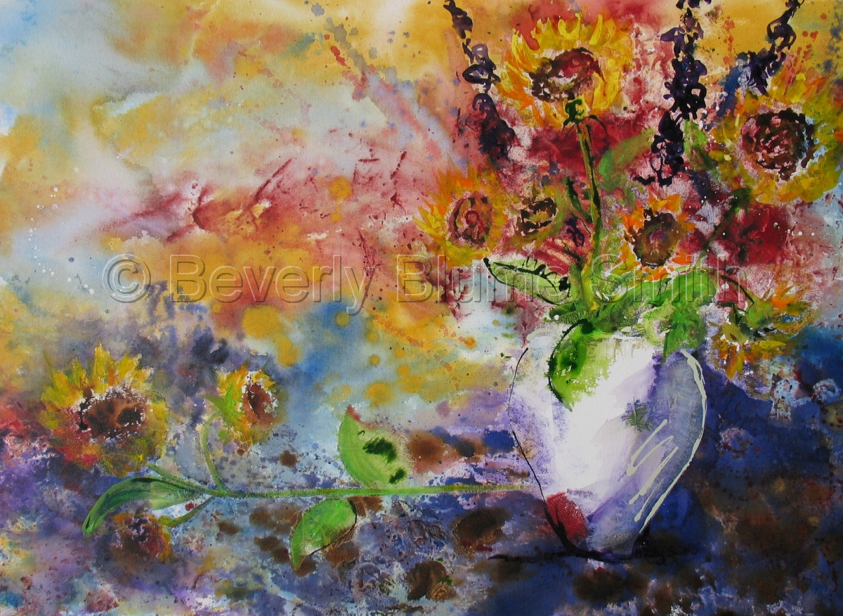 Sunflowers by Beverly Smith (large view)