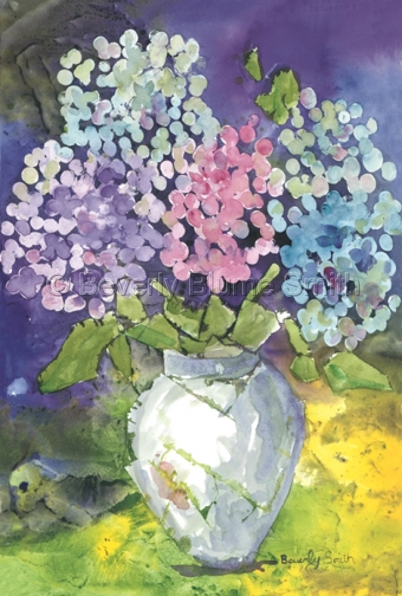 Hydrangea in Vase by Beverly Smith (large view)
