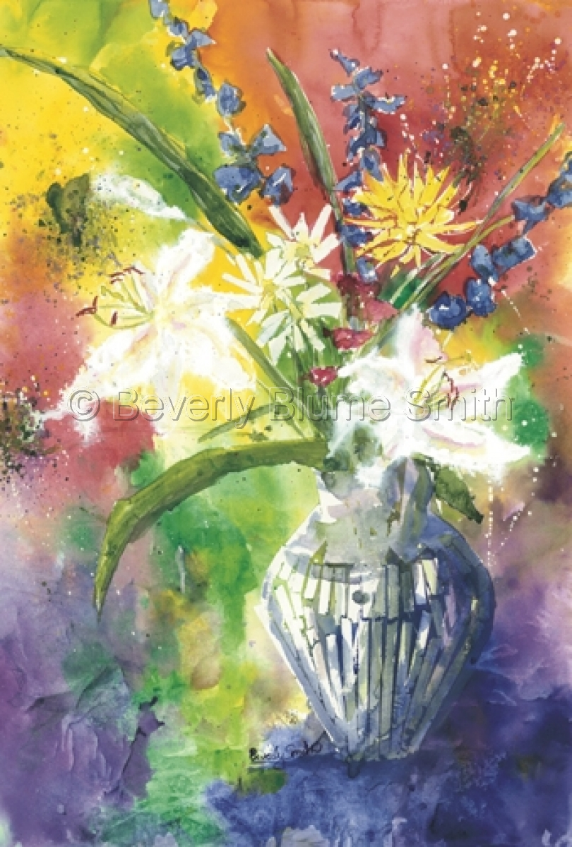 Lilies and Delphenium by Beverly Smith (large view)