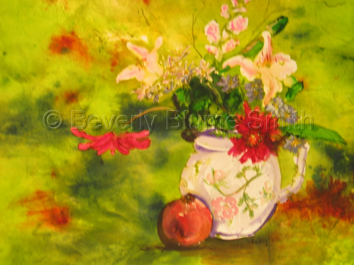 Portmarion Tea Pot by Beverly Smith (large view)
