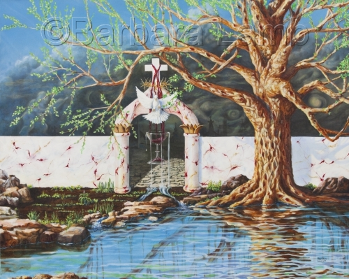 The Well Watered Tree by Barbara Lamb Fine Art