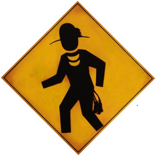 Stomp Dancer Crossing by Brent Greenwood