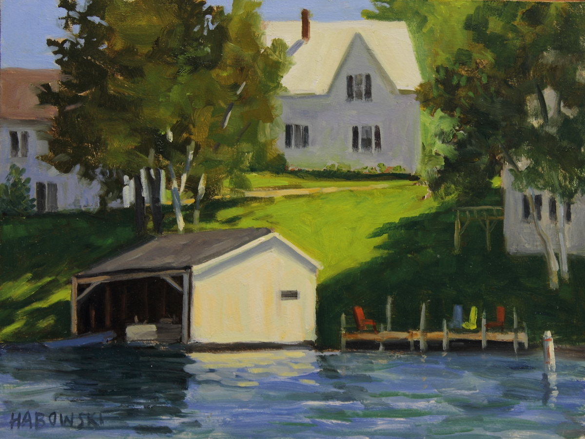 Boathouse with Dock (large view)