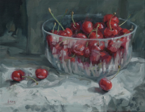 Cherries in the Crystal Bowl