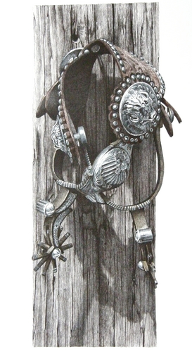"""Custom-Made Spurs with Buffalo"""