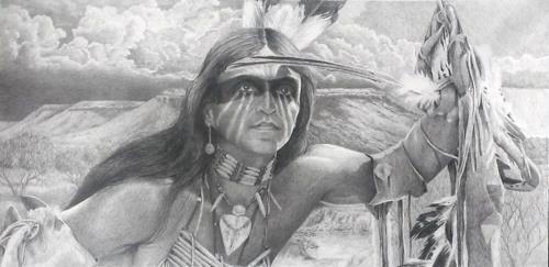 """Comanche Warrior of the Llano Estacado"""