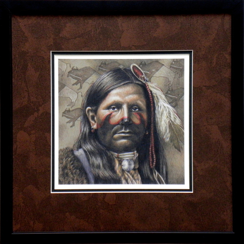 """Buffalo-Runner"" Giclee Print on Heavy Paper, Framed"
