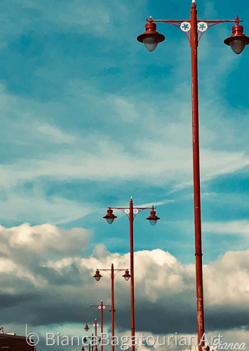 Red Lamp Posts
