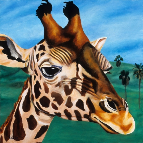 Wall Art Painting : Giraffe - Afternoon Stroll