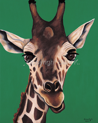 Bella the Giraffe, Original Kids Room Art