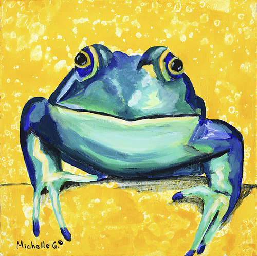 Original Wall Art - Happy Frog