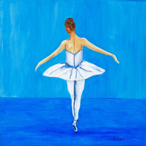 Blue Ballerina - Fine Art Painting