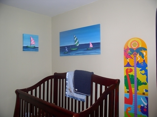 Sail Boats in the Nursery
