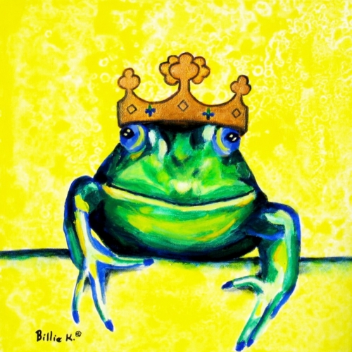 Frog Prince Original Children's Room Painting