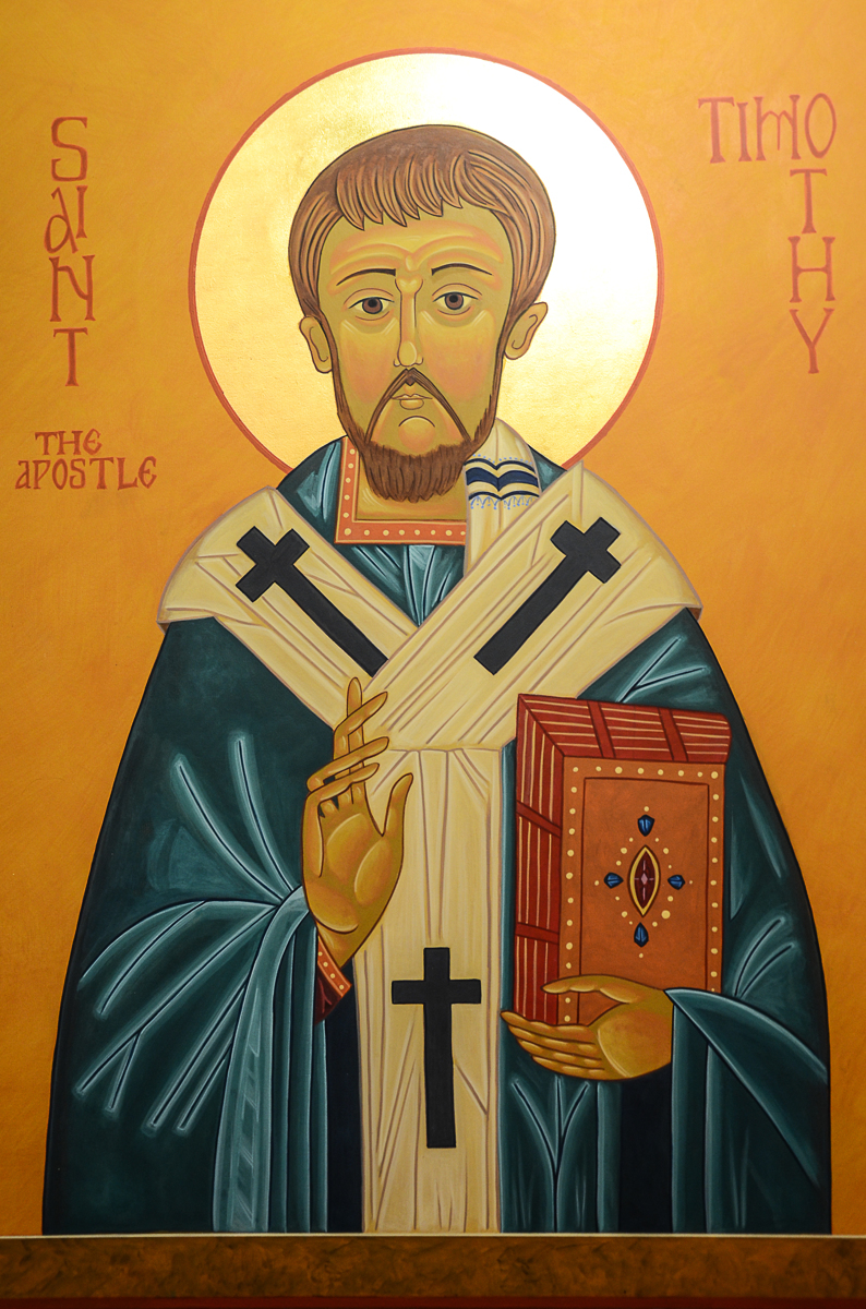 "Painting : ""St. Timothy"" (Original art by Brenda J. Fox )"