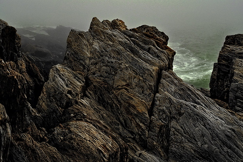 Rocks in Fog