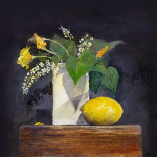 Lemon and White Vase