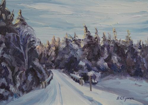 Crossing Cathance Stream, Winter