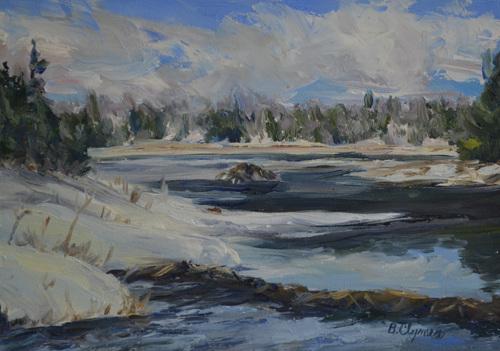 Beaver Lodge in Winter