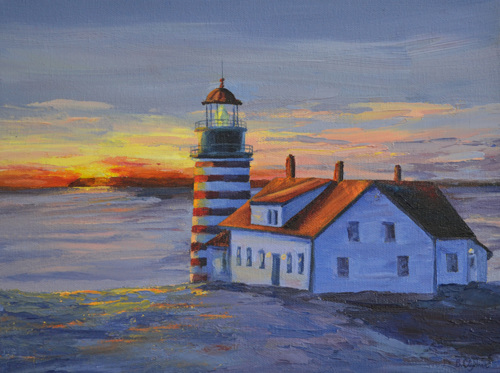 West Quoddy, Early Light by Bonnie Clymer