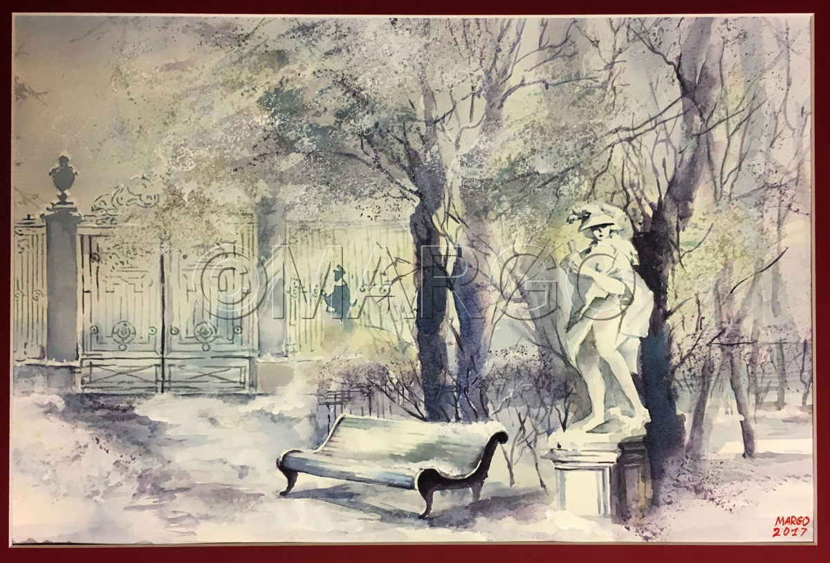 landscape watercolor paintings summer gardens in winter by marina