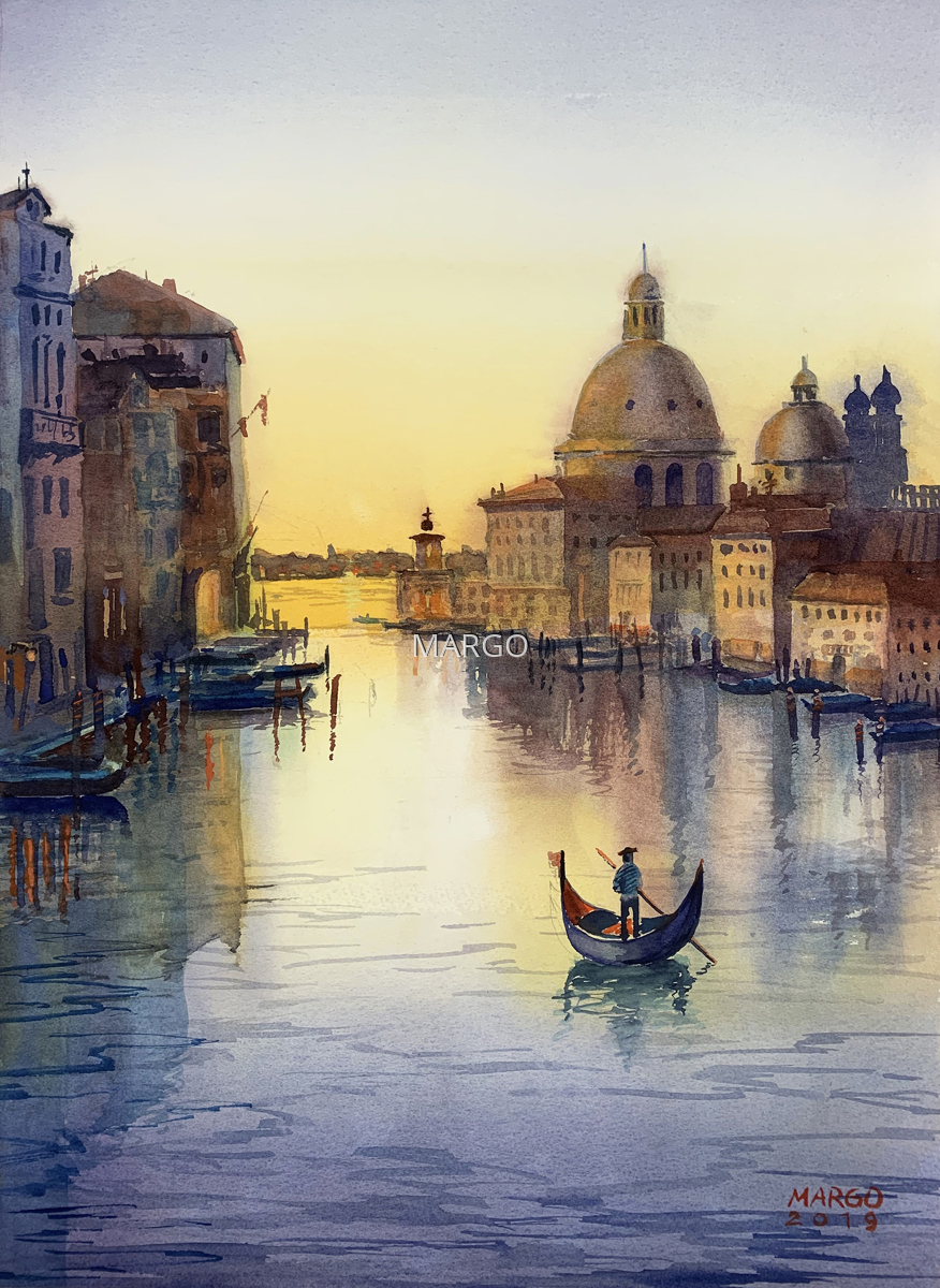 sunset on Grand canal (large view)