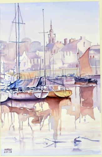 France. Boats by Marina Goldberg - MarGo