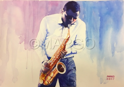 Jazz Sax by Marina Goldberg - MarGo