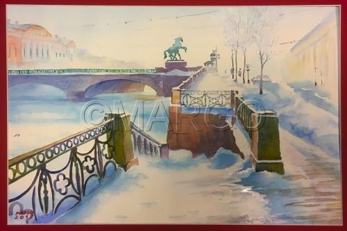 Anichkov Bridge embankment
