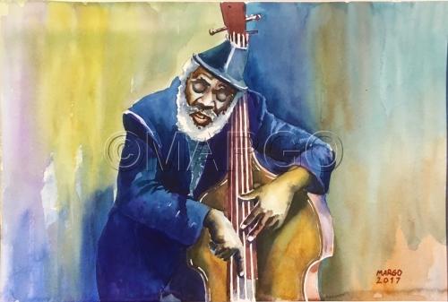 Jazz. Bass player 01